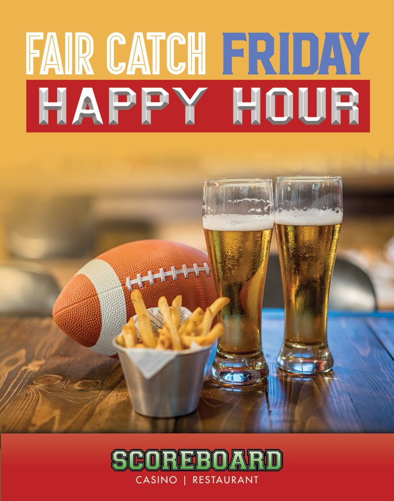 fair catch friday happy hour